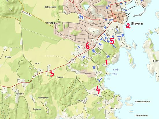 kart over stavern Visit Stavern kart over stavern